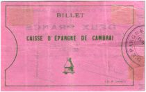 France 2 Francs Cambrai Caisse d´Epargne