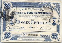France 2 Francs Cambrai City - 1914