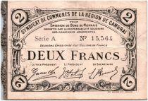 France 2 Francs Cambrai City - 1916