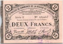 France 2 Francs Cambrai Commune - 1916