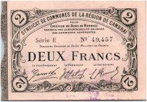 France 2 Francs Cambrai Commune - 1916