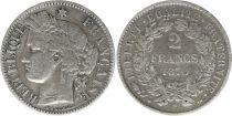 France 2 Francs Cérès - 1870 A Paris petit A - Argent