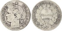 France 2 Francs Ceres - 1871 A Paris Large A Silver