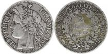 France 2 Francs Cérès - 1873 A Paris Argent