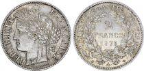 France 2 Francs Ceres - 1873 A Paris Silver - XF - KM.817