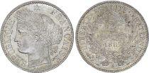 France 2 Francs Ceres - 1887 A Paris Silver - XF - KM.817