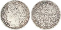 France 2 Francs Cérès - 1895 A Paris Grand A Argent