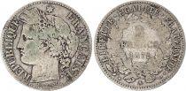France 2 Francs Cérès - Gouvernement National - 1871 A Paris petit A