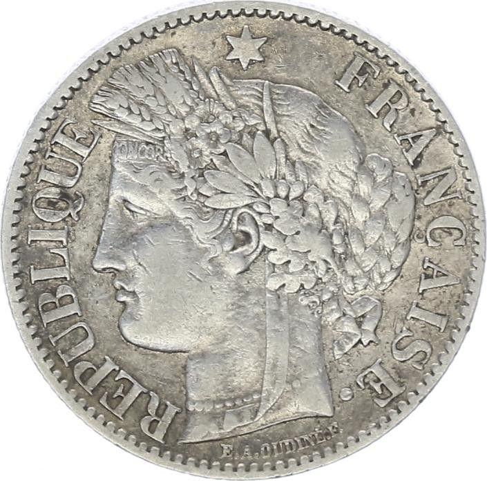 France 2 Francs Cérès - III ème République - 1887 A Paris
