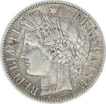 France 2 Francs Ceres - III th Republic - 1887 A Paris