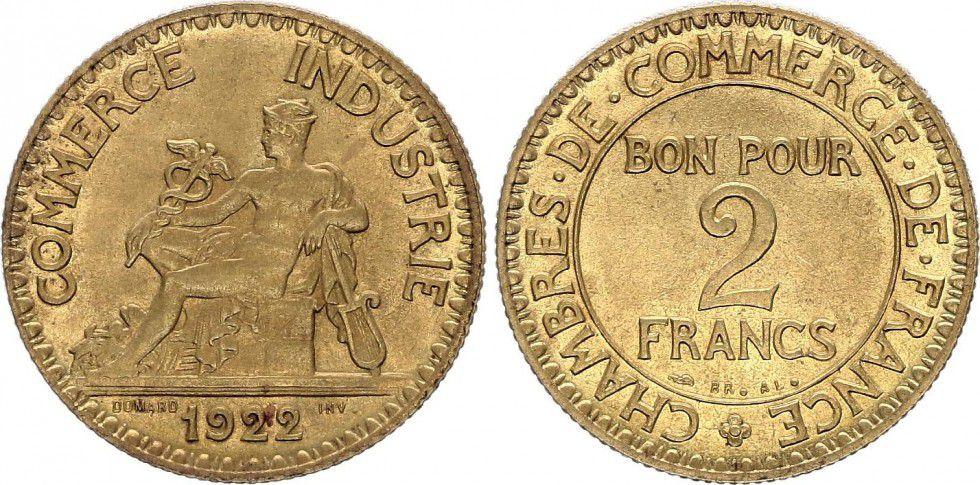 France 2 Francs Chambre de Commerce -1922