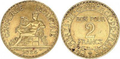 Pi ce france 2 francs chambre de commerce 1924 for Chambre de commerce des bois francs