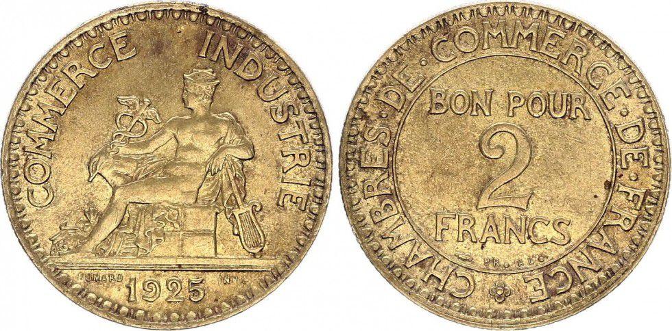 Pi ce france 2 francs chambre de commerce 1925 - Chambre des commerces strasbourg ...