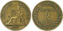 France 2 Francs Chambre de Commerce -1927