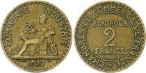 France 2 Francs Chambre de Commerce -1927