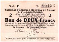 France 2 Francs Charleville-Mézières Cities - Charleville-Mézières - 1916