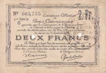France 2 Francs Douai 2 Trous poinçonnés