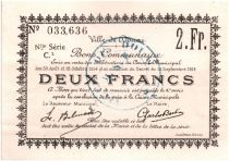 France 2 Francs Douai City - 1914