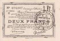 France 2 Francs Douai Commune - 1916