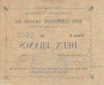 France 2 Francs Estrée City - 1914