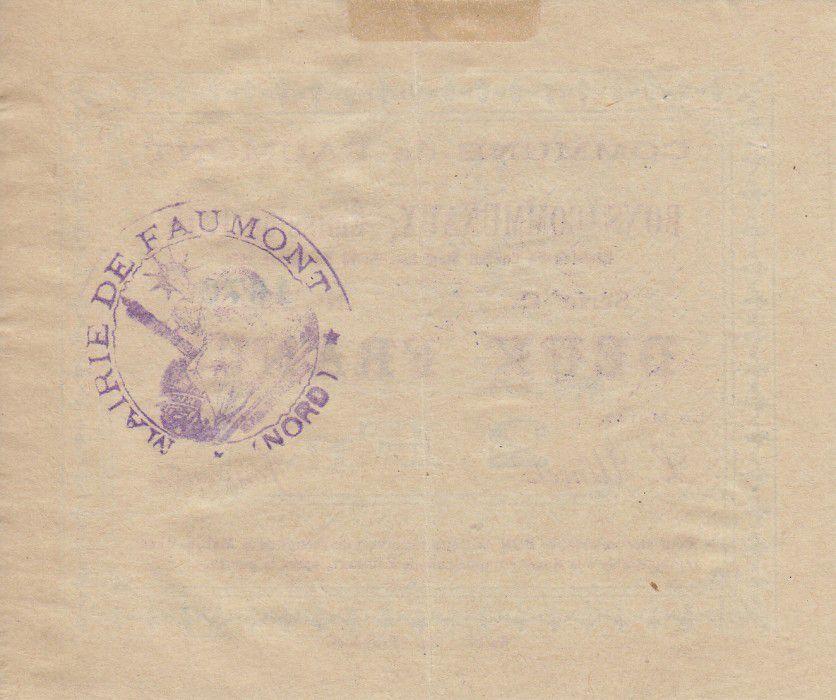 France 2 Francs Faumont City - 1915