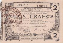 France 2 Francs Fourmies City - 1917