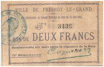 France 2 Francs Fresnoy-Le-Grand Ville - 1915