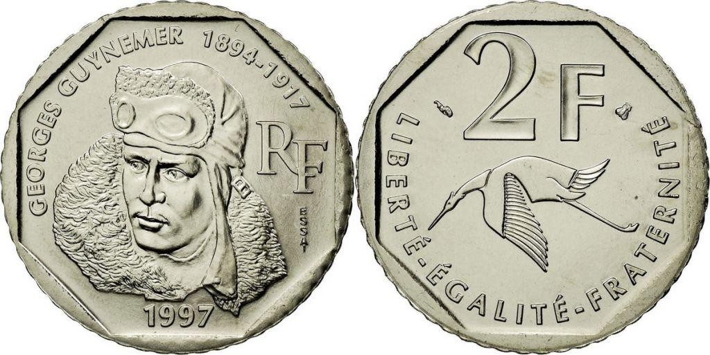 France 2 Francs Georges Guynemer - 1997 - ESSAI
