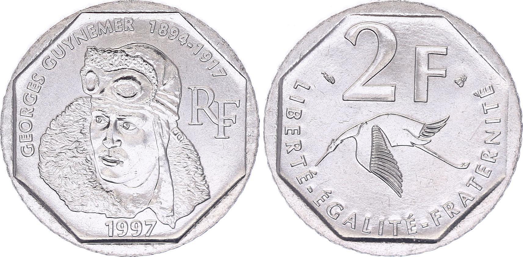 France 2 Francs Georges Guynemer - 1997 - UNC