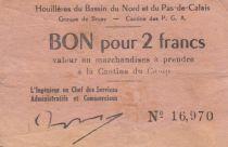 France 2 Francs Houillières du Pas de Calais - Prisonniers de Guerre 1940-1945