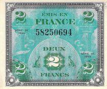 France 2 Francs Impr. américaine (drapeau) - 1944 Sans Série - P.NEUF