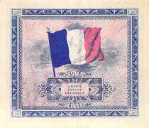 France 2 Francs Impr. américaine (drapeau) - 1944 Sans Série - TTB+