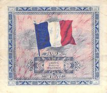 France 2 Francs Impr. américaine (drapeau) - 1944 Sans Série - TTB