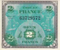 France 2 Francs Impr. américaine (drapeau) - 1944 sans série 63729572