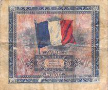 France 2 Francs Impr. américaine (drapeau) - 1944 Série 2 - TB