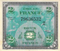 France 2 Francs Impr. américaine (drapeau) - 1944 Série 2 - TTB+