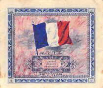France 2 Francs Impr. américaine (drapeau) - 1944 Série 2 - TTB