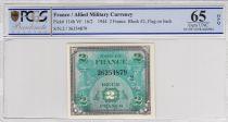 France 2 Francs Impr. américaine (drapeau) - 1944 Série 2 PCGS 65 OPQ