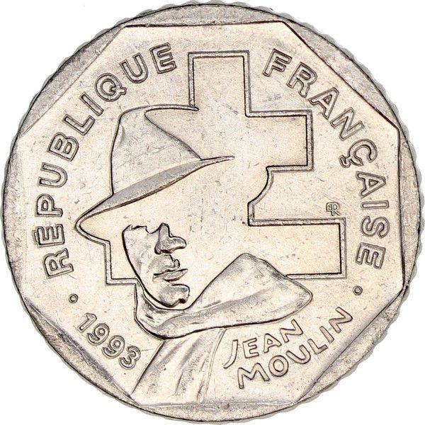 France 2 Francs Jean Moulin - 1993