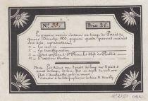 France 2 Francs Loterie Privée de Paris - 1833 - TTB