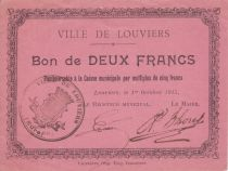 France 2 Francs Louviers Commune - 1915