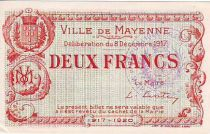 France 2 Francs Mayenne City - 1917