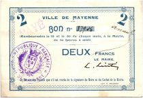 France 2 Francs Mayenne City