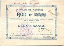 France 2 Francs Mayenne City