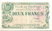 France 2 Francs Mayenne Ville - 1917