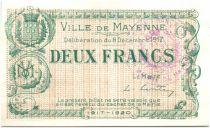 France 2 Francs Mayenne Ville - 1917