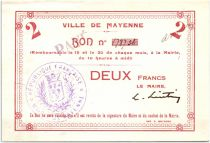 France 2 Francs Mayenne Ville