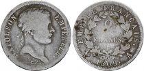 France 2 Francs Napoléon I - 1809 A Paris - Argent
