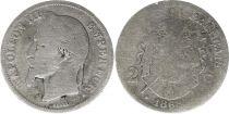 France 2 Francs Napoléon III - 1868 BB Strasbourg Argent