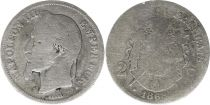 France 2 Francs Napoleon III - 1868 BB Strasbourg Silver